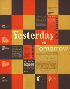 YESTERDAY TO  TOMORROW EVENT POSTER